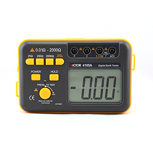 Victor Ground Resistance Earth Resistance Meter VC4105A 20ohm-2000ohm