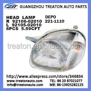 Head Lamp 92106 02010 92105 Depo 221 1110 For Atos 98 Ok