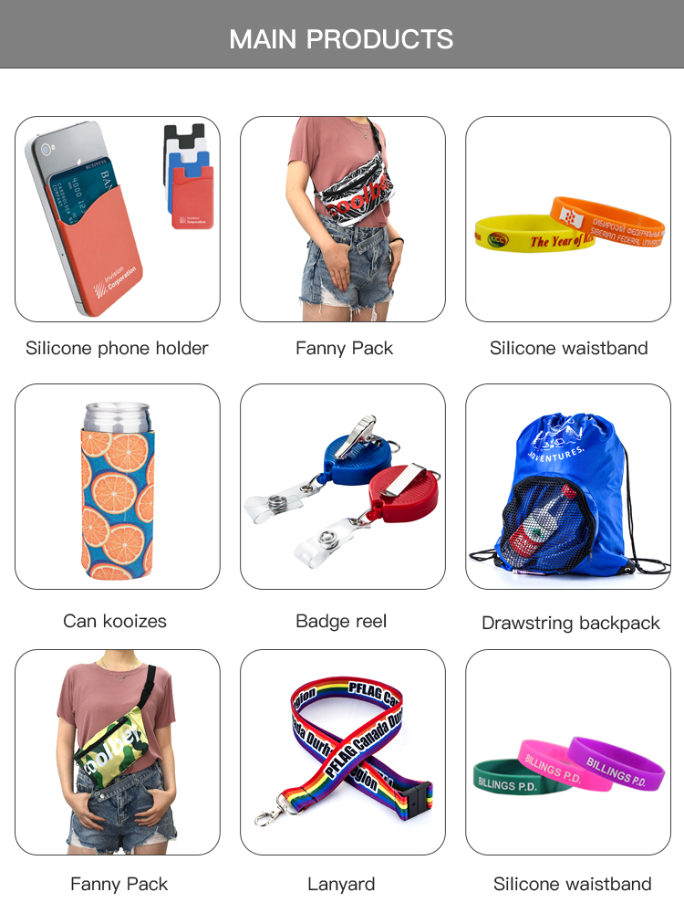 FREE SHIPPING Custom printed polyester original pen holder rainbow lanyards with plastic sleeves