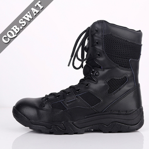 e56bf787437 Genuine Leather fashion Army Man Police Combat Black Tactical Boots
