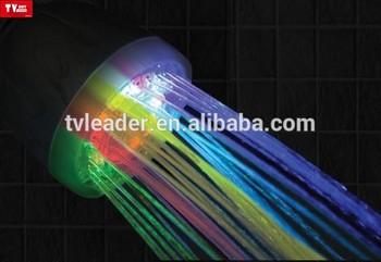 Tv item cool 7 kleuren temperatuur sensing douchekop badkamer