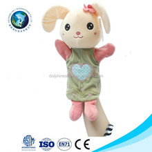 Funny custom finger puppets animal dolls plush hand puppet toys popular soft stuffed push puppets toys