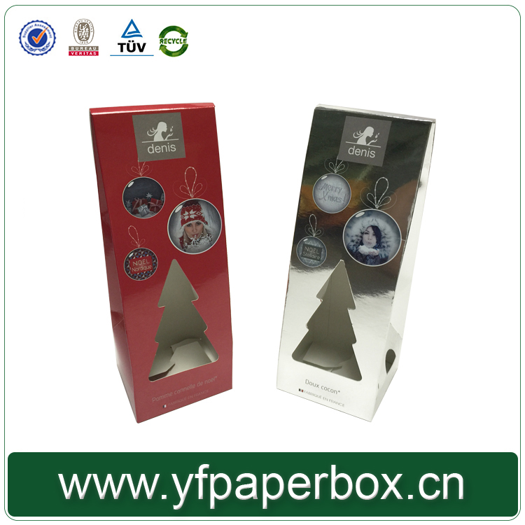 china manufacture supplier Hot sale branded christmas tree shape gift paper box