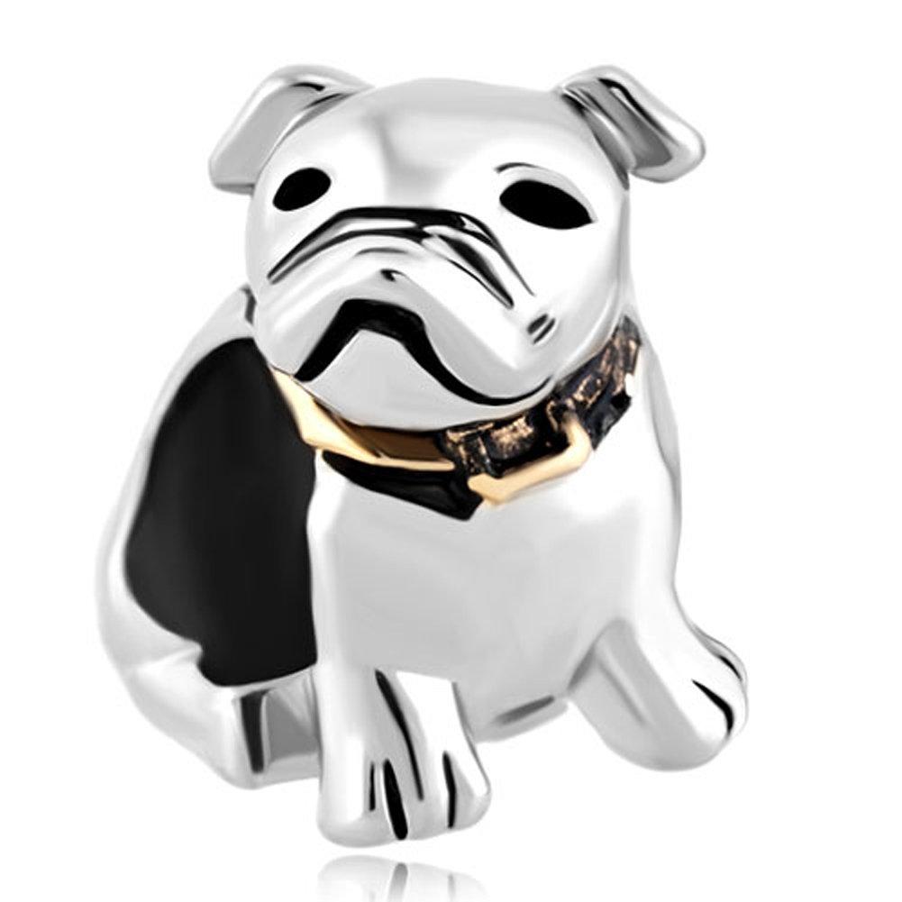 Dog Beagle Pet Germany Bulldog Animal Charms Jewelry Beads For Charm Bracelet