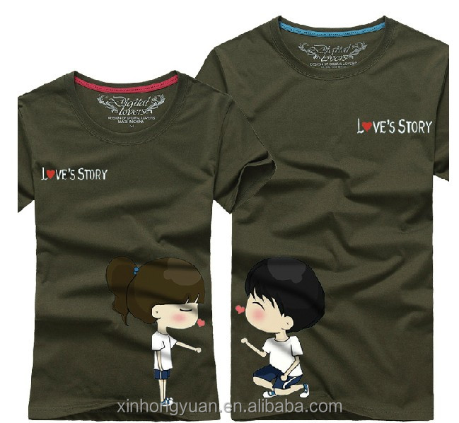 Black China Cotton Jersey Couple Popular T-shirts In Manufacture ...