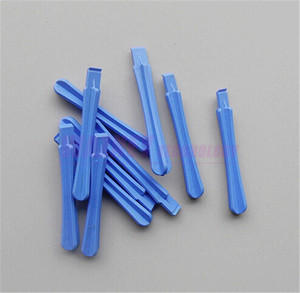 *Blue Plastic Pry Opening Round Crowbar Tool for iPhone iPad HTC Samsung Blackberry Repair Tool
