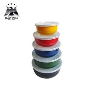 Color assorted 5pcs enamel ice bowl set