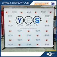 Advertising exhibition display rotating flex banner stand