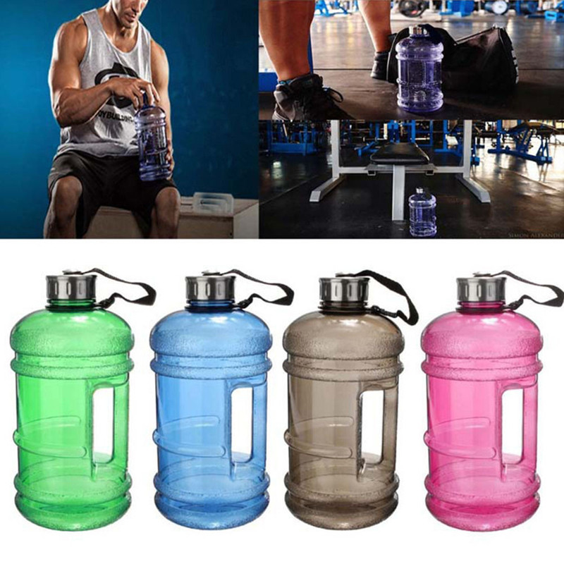 Wholesale- 2 2L Large Capacity Water Bottles Outdoor Sports Gym Half Gallon  Fitness Training Camping Running Workout Water Bottle Space Cup