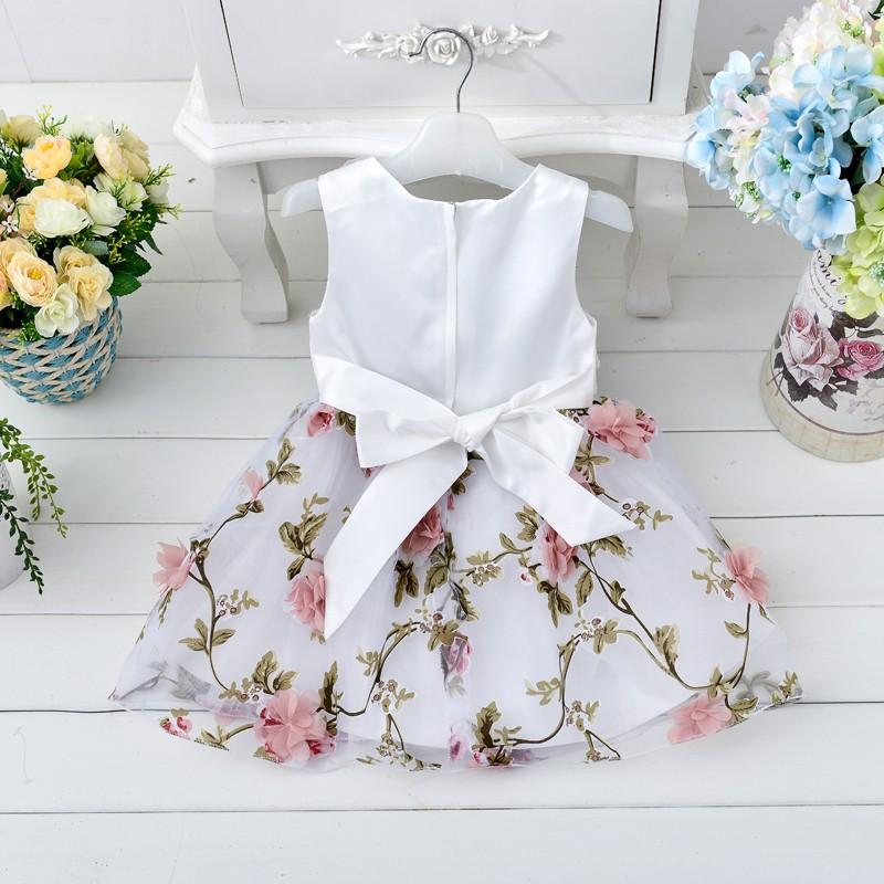 7235c24e5 2016 novo estilo bebê criança vestido de criança vestido de festa de  casamento do bebê impresso
