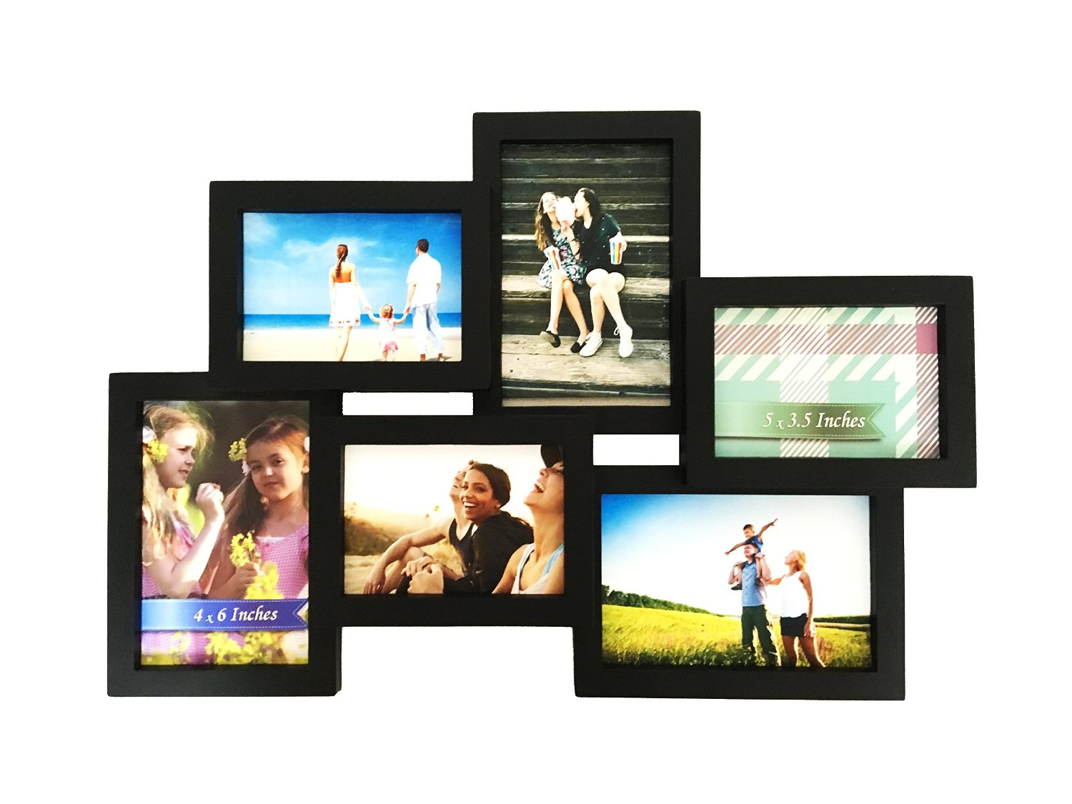 Buy BestBuy Frames Wall Hanging Collage 6 Opening (3 - 4 x 6-Inch ...