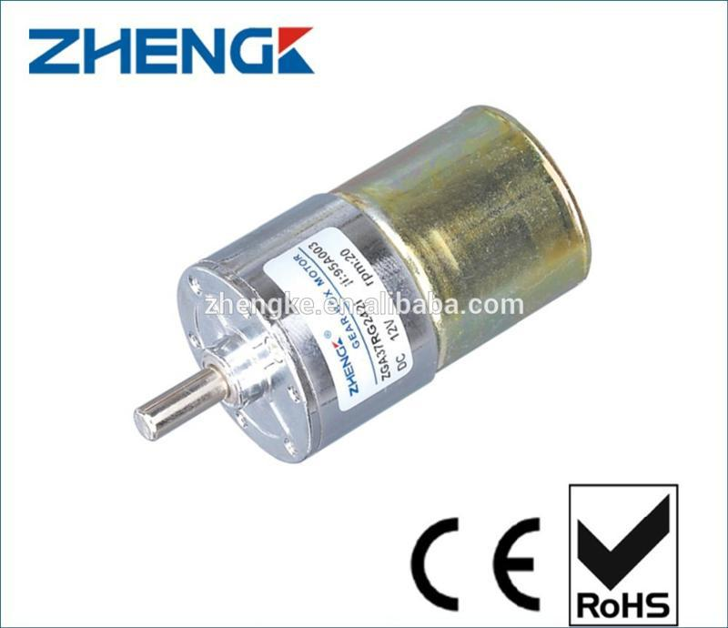 Zhengke manufacturer hot selling motor ZGA37RG for DIY robot motor 37mm diameter 12v 24v