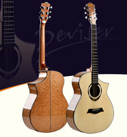 China good quality acoustic guitar electric guitar oblique body acoustic guitar