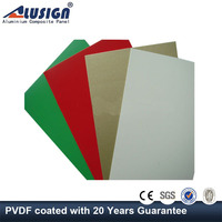 Alusign free sample certificate authentication lightweight exterior wall building materials aluminum cabinet composite panel