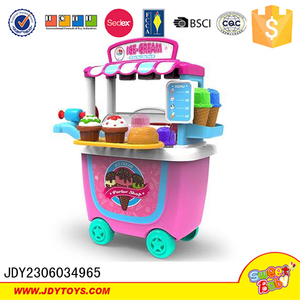Girls toy pink cooking games set ice cream maker bucket toy