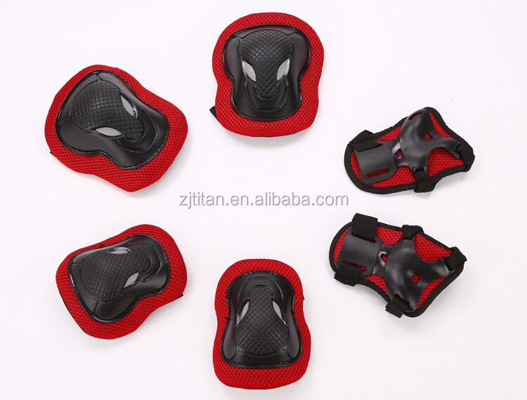 Hot selling 6-in-1 colorful safty protectors,adustable kids skating protective gears