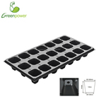 black ps plastic gardening nursery tray