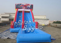 Spiderman Giant Commercial Cheap Inflatable Water Slide With Pool