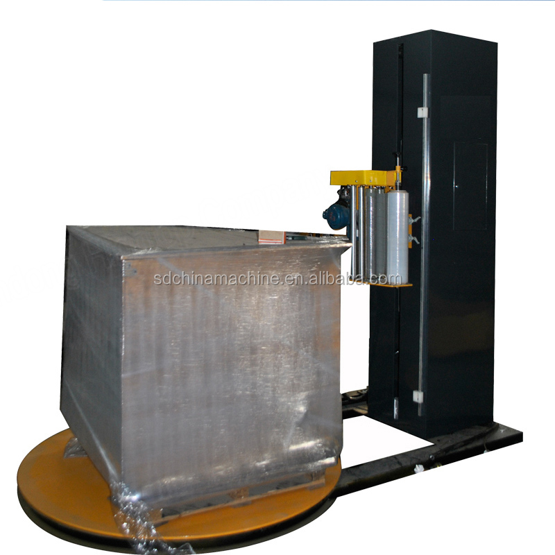 Smart Automatic Pallet Stretch Wrapping Machine With Weight Scale for plant warehouse
