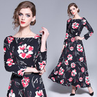 2019 OEM Wholesale Clothing Print Chiffon Dresses