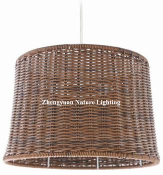 Outdoor Used Pe Rattan Hanging Pendant Light For Garden