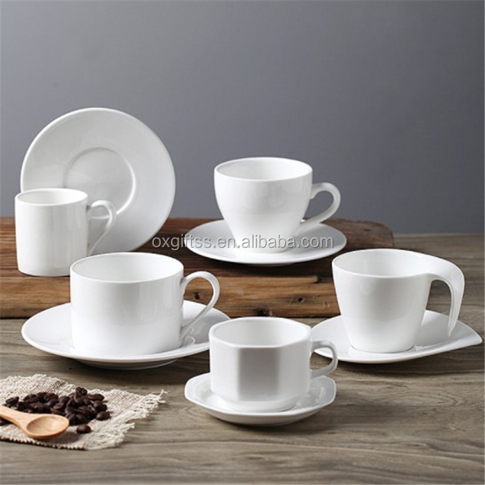 OXGIFT Wholesale Coffee Cup And Saucer Set Ceramic Mug and Porcelain Plate