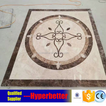 Beige marble floor medallion for home