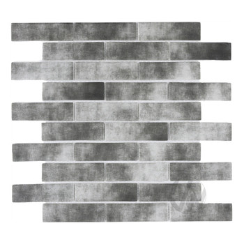 Hot sale Strip Grays Mixed Classic recycled inkjet glass stone look mosaic