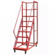 Warehouse Mobile Platform Ladder With Wheels step ladders