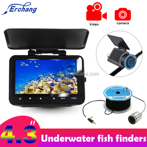 "Erchang Original 4.3"" 20M Fish Finder 1000TVL Underwater Fishing Camera Fishfinder Infrared lamp IR LED Fishcam 140 Degree angle"