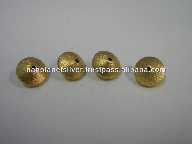 German Silver Gold Plated Beads