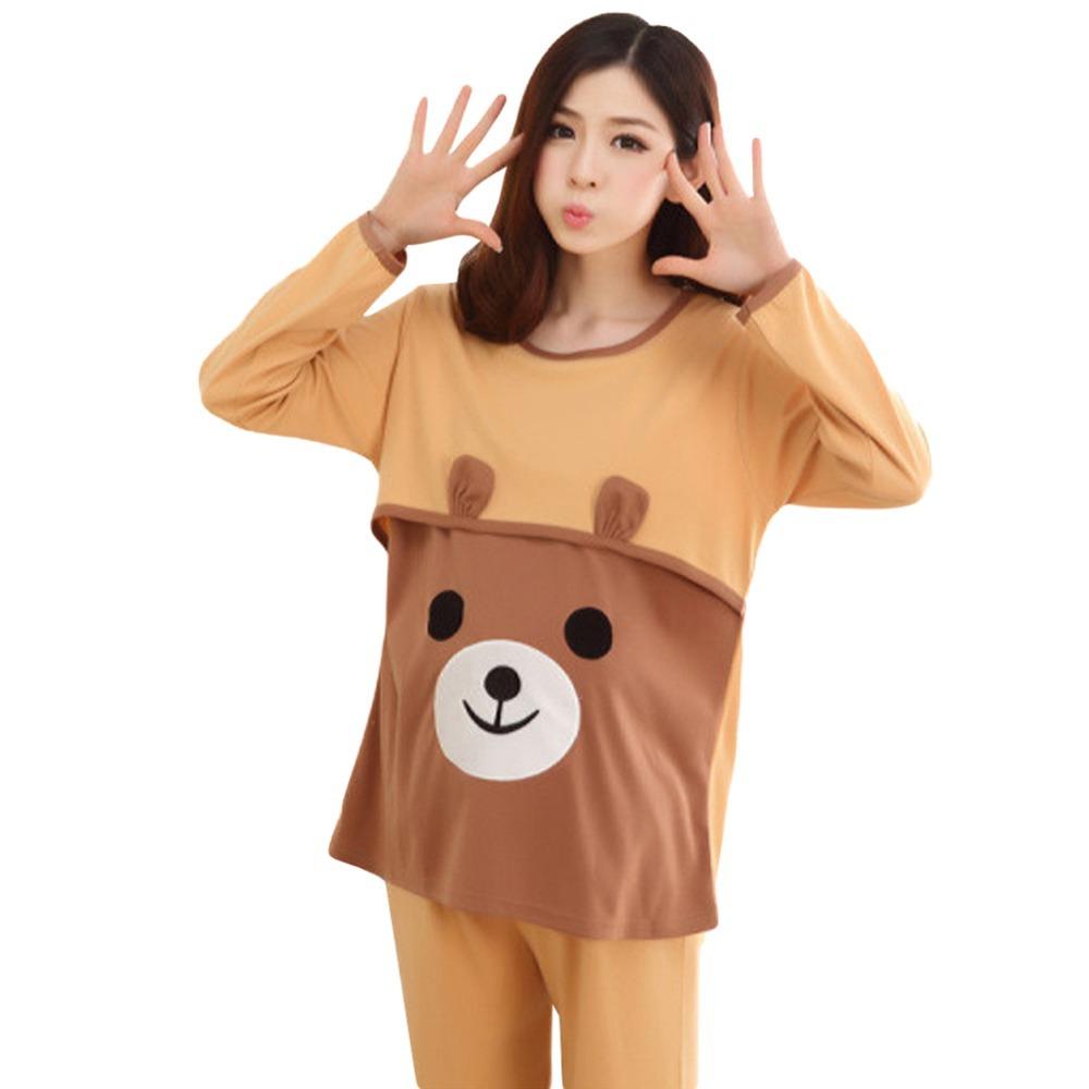 5f0dc53d6029b Get Quotations · 2015 New Autumn Pregnant Women Cute Bear Lactation Nursing  Clothes Full Sleeve Maternity Sets Free Shipping