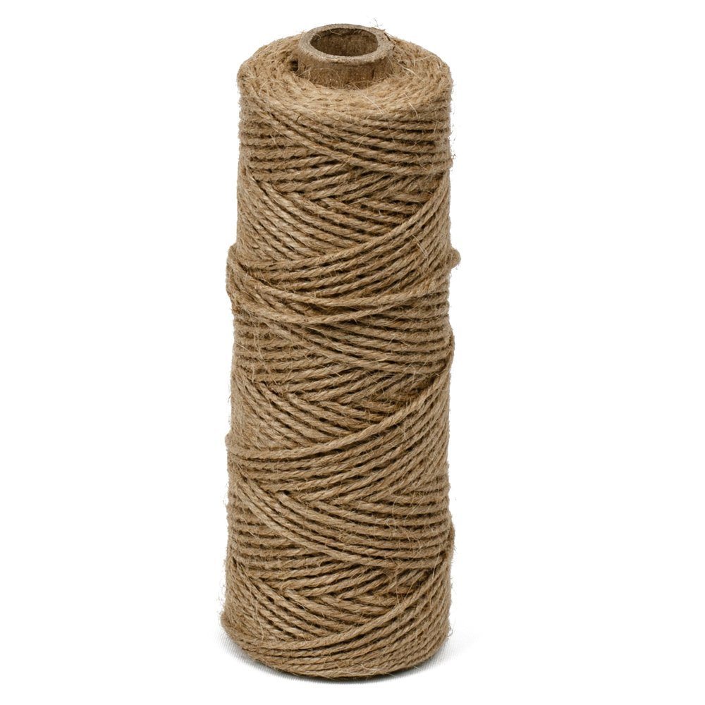 KINGLAKE 328 Feet 2mm Natural Jute Twine Arts Crafts DIY Gift Twine Hemp Rope Twine Durable String