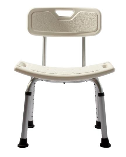 Adjustable Height Lightweight Folding Backrest Aluminum Shower Chair Toilet C