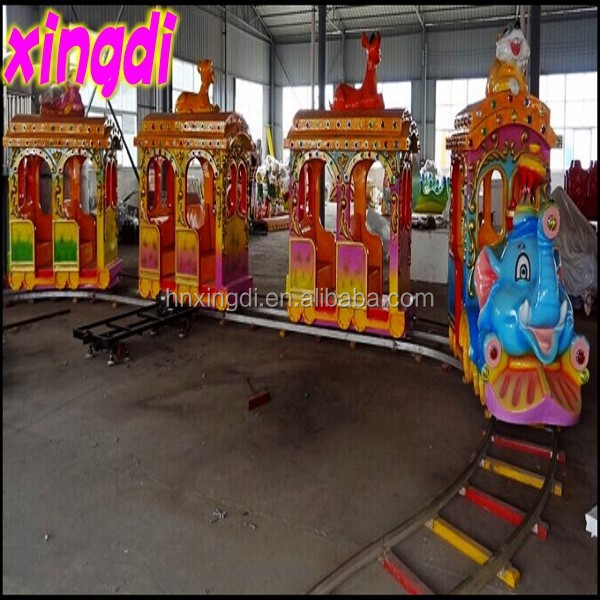 Family style mini amusement park big elephant electric train for sale