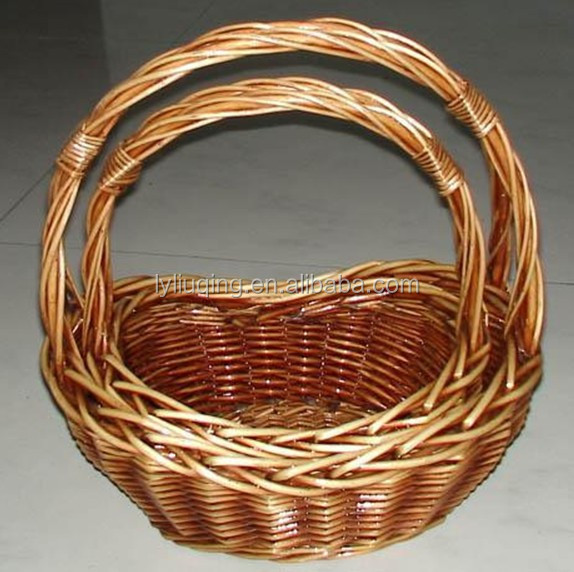 wholesale 2 set nature handicraft storage basket with liner and handle,FACTORY SUPPLY
