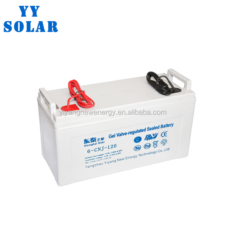 2018 battery 12V 120ah Maintenance free solar battery SLA VRLA Gel Deep Cycle Solar PV UPS Rechargeable Battery