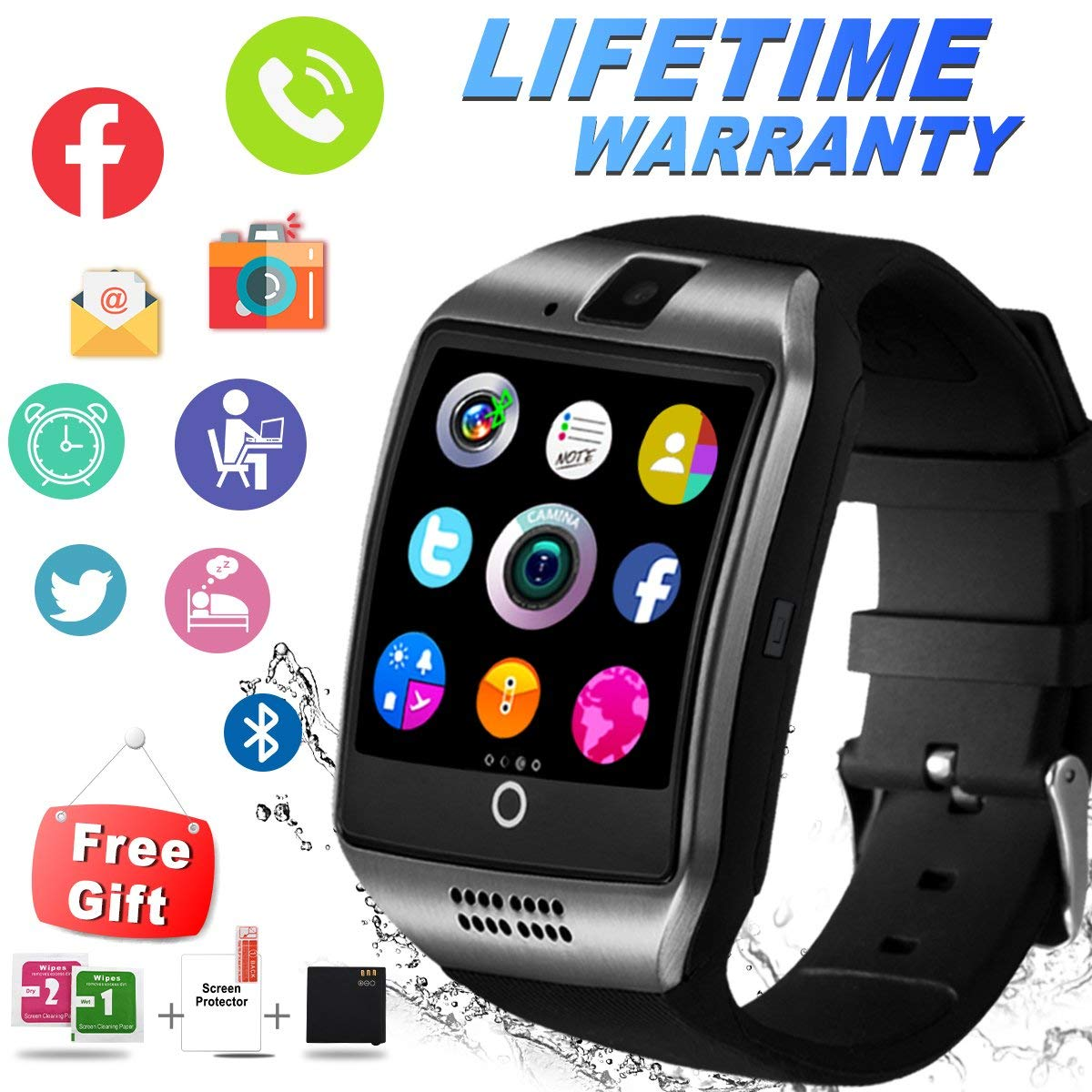 Cheap Sony Android Smart Watch Find Deals Huawei Stainless Steel Mesh Band Us Warranty Get Quotations Ifunda Bluetooth With Camera Sim Card Slot Touch Screen Smartwatch Unlocked Cell Phone