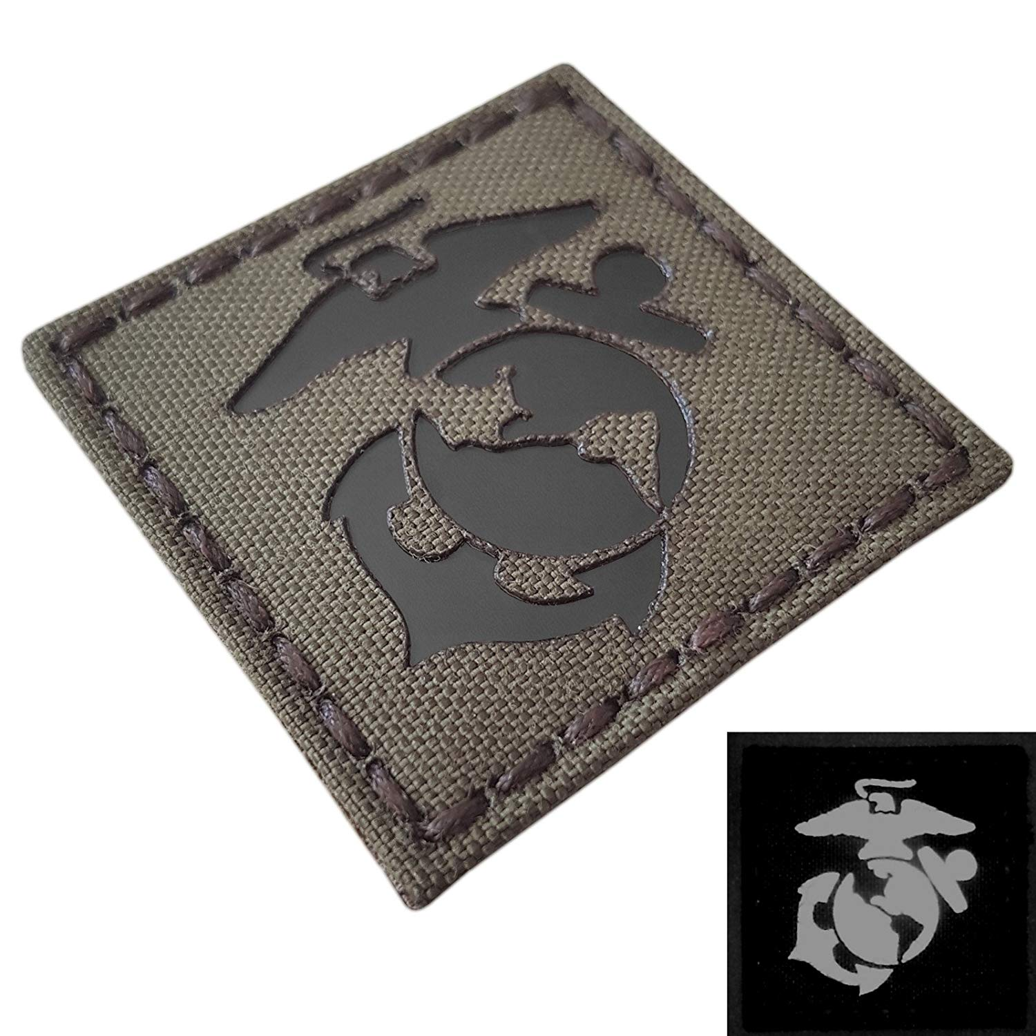 IR Ranger Green USMC Marines Semper Fidelis Fi Infrared 2x2 Templar Tactical Morale Touch Fastener Patch