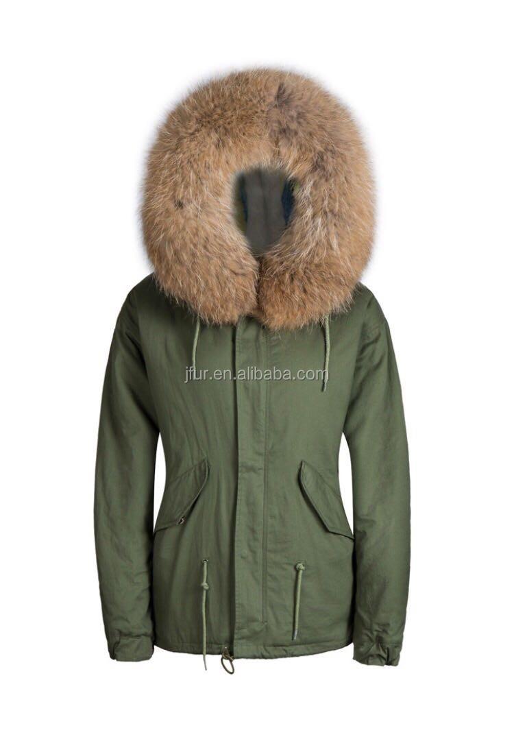 Custom Rainbow Color Fur Collar Fashion Winter Coat Women Oliver ...
