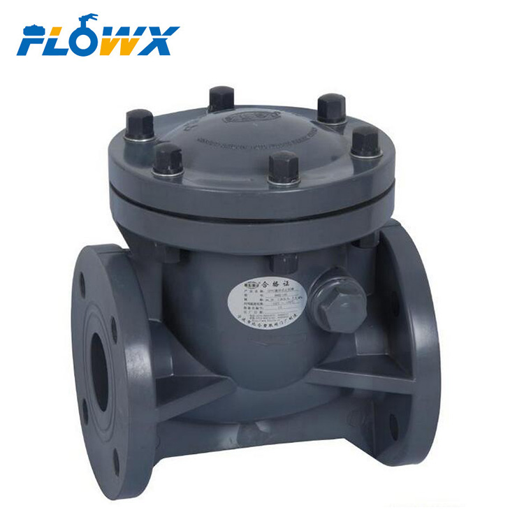 UPVC Double Union Vertical Manual Plastic Check Valve, 4 inch flanged 3d drawings PVC Check Valve for Water Treatment