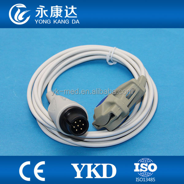 Adult Soft Tip Spo2 optical Sensor for Bionet 7pin 3m with surgical supplies