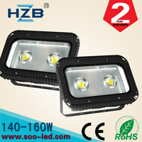 two factory led lights company 160w led flood light outdoor waterproof ip65 two head 100lm/w