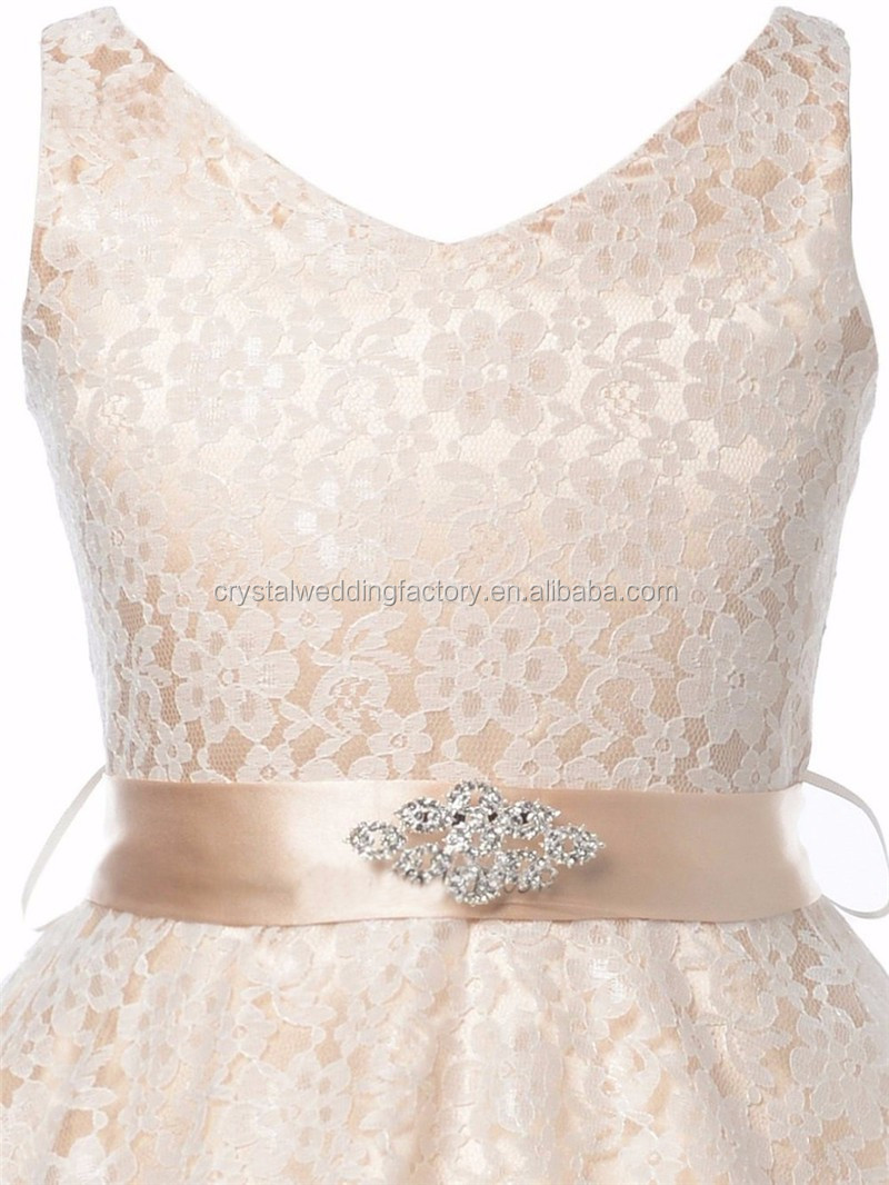 little flower girls dresses for weddings Baby Party frocks Lace ...