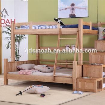 Cama Litera De Madera Roble Muebles Juego De Dormitorio Cama Niño ...