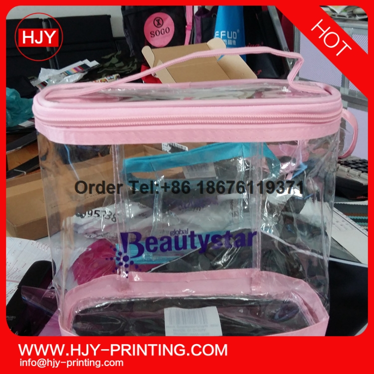 companies manufacture clear vinyl pvc zipper bags with handles