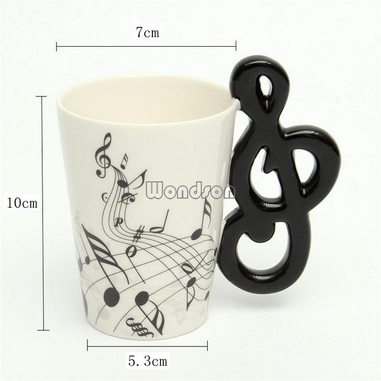Музыкальные чашки с цветами