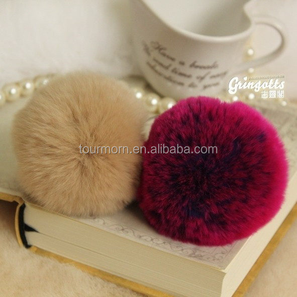 fashion wholesale price multi color <strong>rabbit</strong> / fox / mink/ raccoon fur ball /pom poms