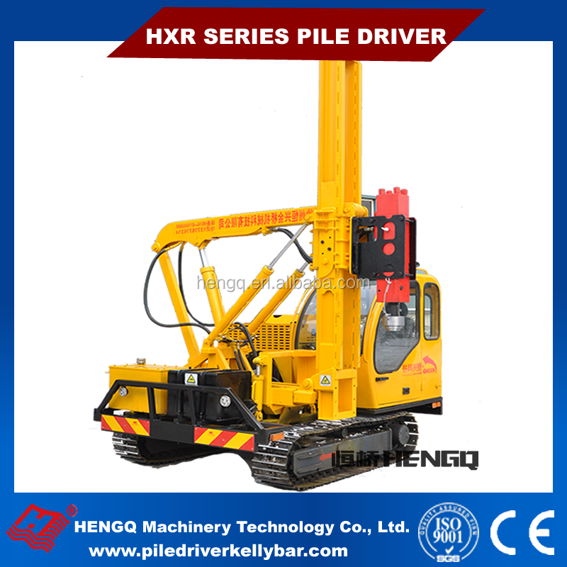 hydraulic ramming Easy Operation Safety Fence diesel engineer pile driver