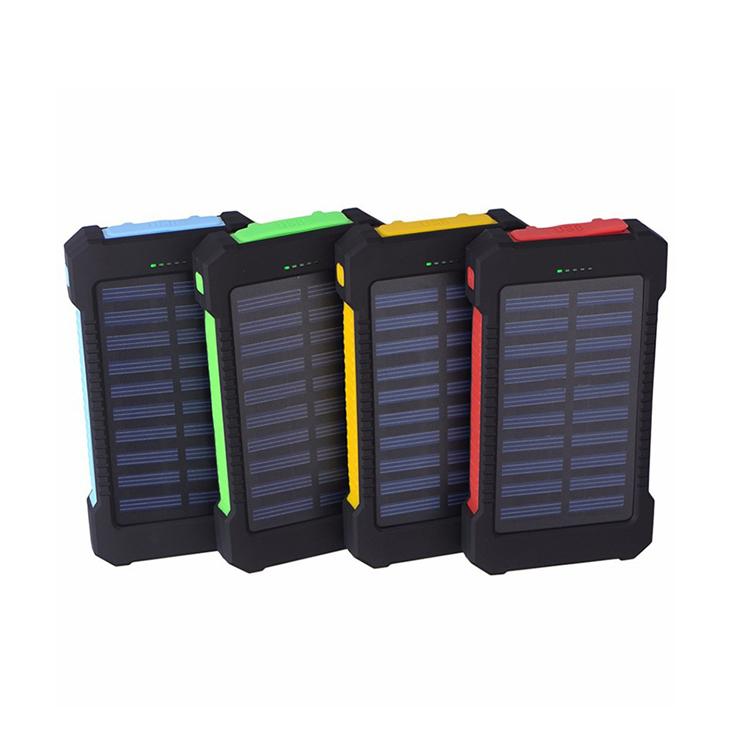 Hoge capaciteit waterdichte solar power bank 10000 mah solar laptop power bank draagbare oplader